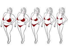 Five stages to slimming Stock Illustration