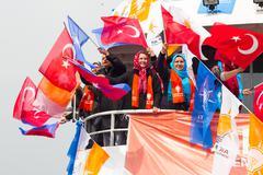 Turkish local elections, 2014 Stock Photos