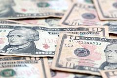 Ten Dollar Bills - stock photo