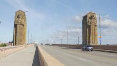 Hope Memorial Bridge in Cleveland, Ohio, USA. - stock footage