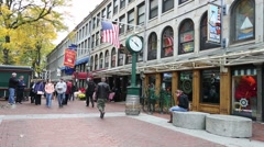Boston Faneuil Hall outside Stock Footage