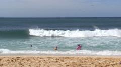 Sunset Beach, North Shore, Oahu, Hawaii Stock Footage