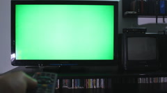 Televison green screen ,Switch Channels Stock Footage