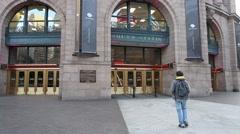Boston South Train Station Passengers Stock Footage