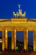 Stock Photo of Brandenburg Gate at Night, Berlin, Germany