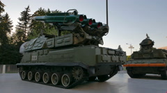 """Anti-aircraft missile systems """"Buk-M1-2"""" (NATO codename SA-17 Grizzly). - stock footage"""
