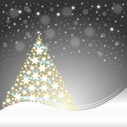 Christmas card with christmas tree Piirros