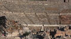 Ephesus, Efes, Selcuk, Izmir Province, Turkey amphitheatre - stock footage