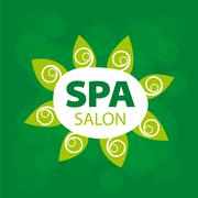 Stock Illustration of Abstract vector logo for Spa salon