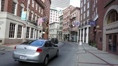 Providence Side Street near the Arcade Shopping Centre Rhode Island Stock Footage