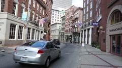Providence Side Street near the Arcade Shopping Centre Rhode Island Stock Footage
