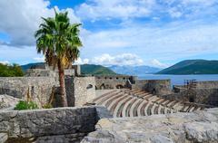 Amphitheatre in fortress Kanli Kula (Bloody Tower), Herceg Novi, Montenegro Stock Photos