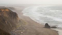Irish Beach Wide Angle Stock Footage