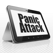 Health concept: Tablet Computer with Panic Attack on display Piirros