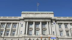 Front view of Cleveland City Hall. Stock Footage