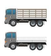 Modern Farm truck or army truck Stock Illustration