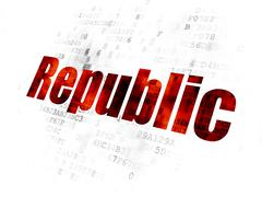 Stock Illustration of Politics concept: Republic on Digital background