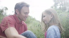 4K Happy & affectionate father & daughter spending time together outdoors. - stock footage