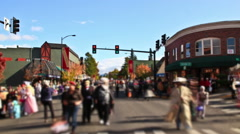 Ashland Oregon Halloween Parade Stock Footage