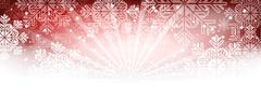 Winter wallpaper with snowflakes and shine. Stock Illustration