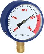 2016 year approaching manometer - stock illustration