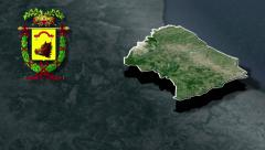 Chieti's province with Coat of arms animation map Stock Footage