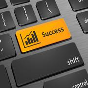 Increase business key on the computer keyboard Stock Illustration