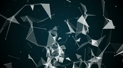 Abstract animated  system Plexus lines and triangles Stock Footage
