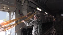 BASE CHARLSTON, US Air Force Two Soldiers Take Back Jump Ropes - stock footage