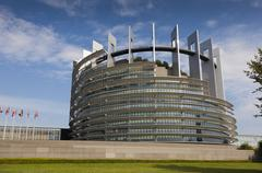 Government building of the European Union in Strasbourg, Bas-Rhin, Alsace, Fr Stock Photos