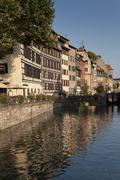Architecture of the Petite france, Strasbourg, Bas-Rhin, Alsace, France - stock photo