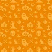 Halloween vector background seamless pattern Stock Illustration