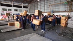 Thailand, US Air Force  US Soldier Volunteers Load Supply For Air Drop Stock Footage