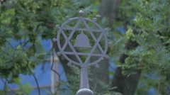The Star of David in Prague Stock Footage