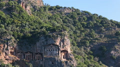 Kaunian rock tombs in Hellenistic style Stock Footage