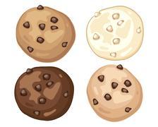 cookie advert - stock illustration