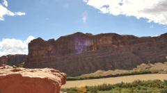 river in desert timelapse - stock footage