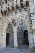 Architecture of Rocamadour, Lot,  Midi-Pyrenees, France Stock Photos