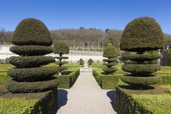 Gardens of the Castle of Villandry, Indre-et-Loire, France - stock photo