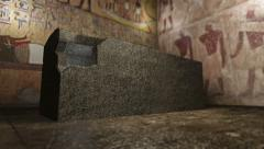 Stock Video Footage of Animated pharaoh tomb in ancient Egypt 4K