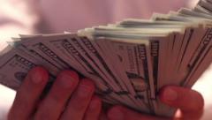 The Businessman Believes Dollars 17 Stock Footage