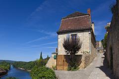 View of Beynac-et-Cazenac, Dordogne, Aquitaine, France Stock Photos