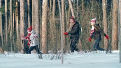 Joyful Winter Moments Stock Footage