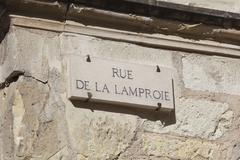 Rue de la Lamproie in Tours, Indre-et-Loire, France Stock Photos