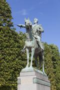 Statue of Simon Bolivar, Paris, Ile-de-france, France Stock Photos