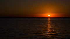 Lake Livingston Texas Sunset Trinity River Horizon Stock Footage