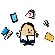 Businessman zen Stock Illustration