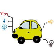 Ok car Stock Illustration