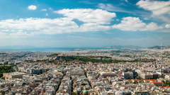 Athens - panoramic view with Acropolis and Piraeus in the background - stock footage