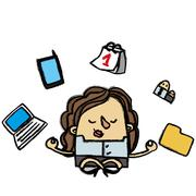 Zen businesswoman Stock Illustration